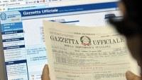 concorsi, Gazzetta Ufficiale