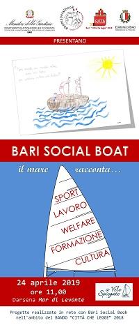 locandina totem bari social boat