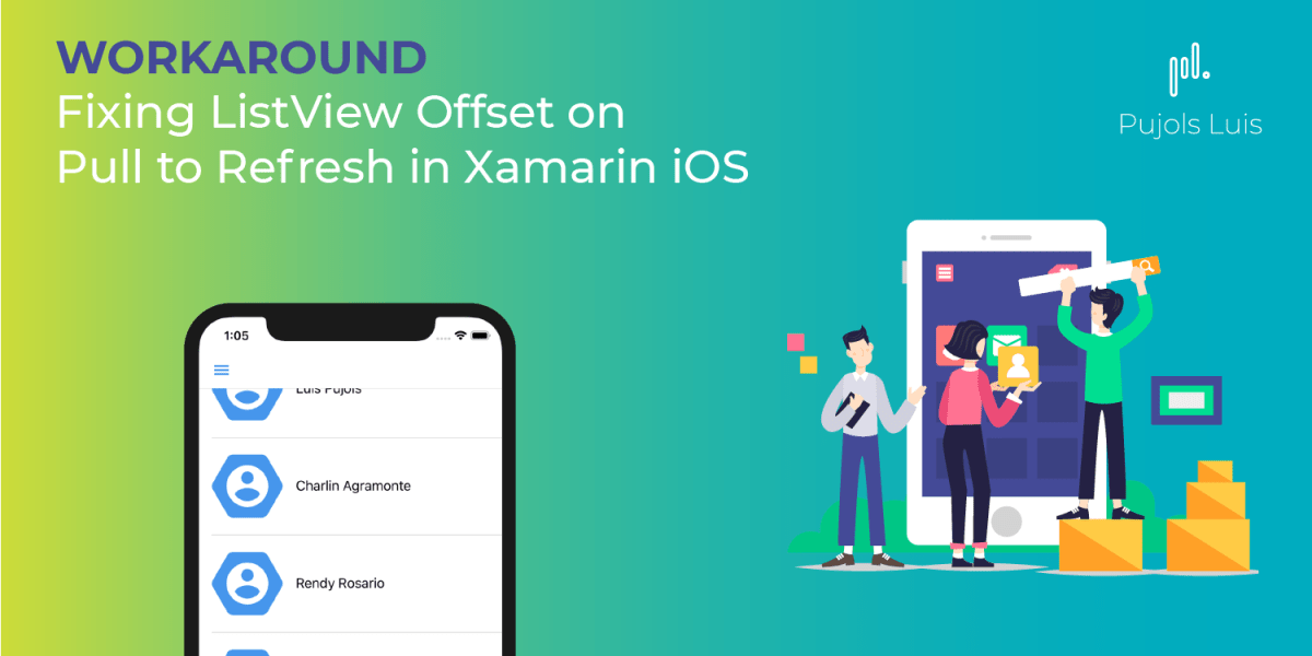 Fixing ListView Offset on Pull to Refresh in Xamarin iOS