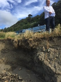 Erosion is threatening council infrastructure.