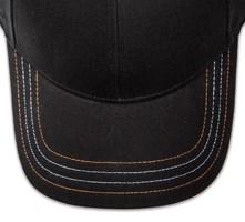 Pukka hat, visor stitching, 4 rows, 4 contrast stitch, 2 colors