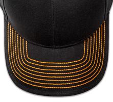 Pukka hat, visor stitching, 4 rows, 8 thick stitch, 1 color