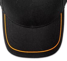 Pukka hat, visor stitching, 4 rows, 1 thick satin stitch, 1 color