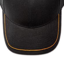 Pukka hat, visor stitching, 8 rows, 1 thick hand stitch, 1 color