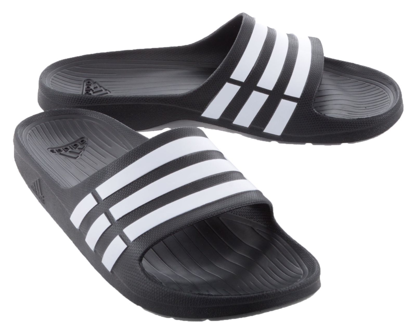 b334b3ba2 ... ADIDAS DURAMO G15890 BLACK WHITE SLIDES SANDALS FLIP FLOPS SHOWER SPORT.  🔍. 1  2