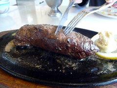 エゾシカステーキを追加で!