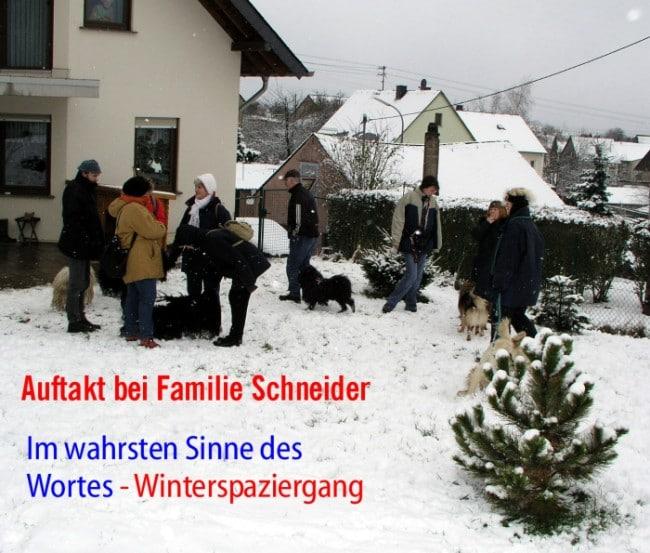 Puli Winterwanderung in Belg Start