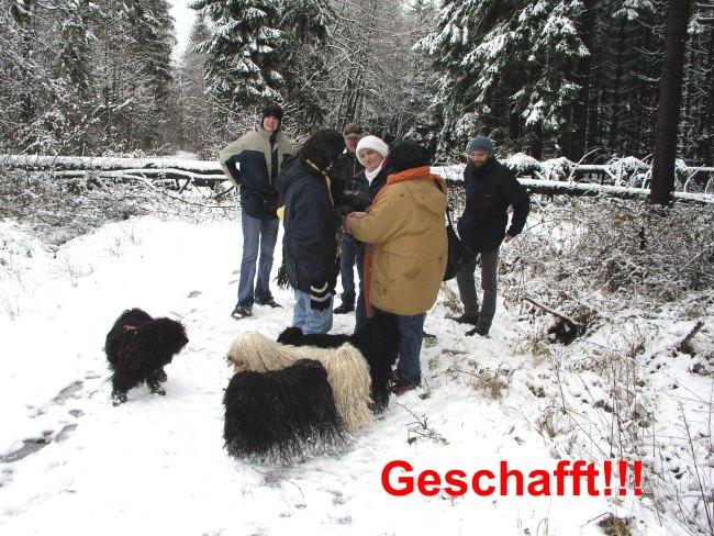 Puli Winterwanderung in Belg geschafft