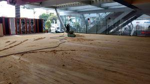 pulido de pisos de madera en el centro