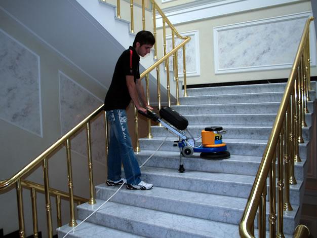Pulido de escaleras