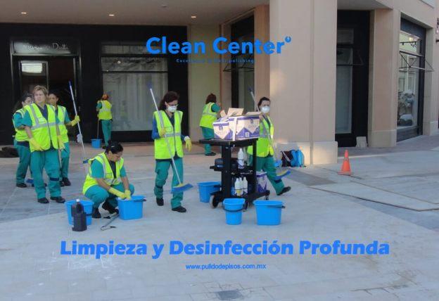 limpieza fina y desinfección profunda
