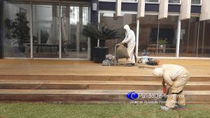 pulido de piso de duela de madera