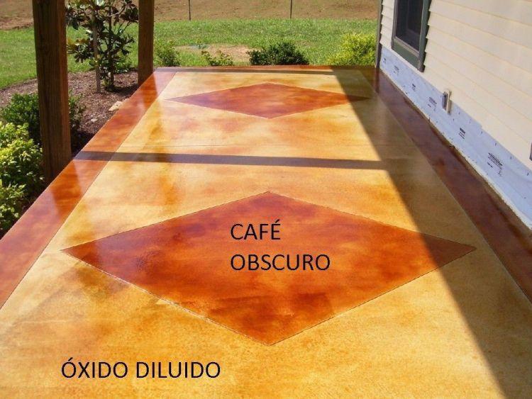 concreto oxidado