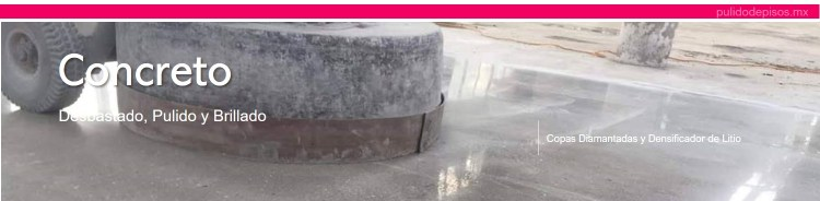 concreto pulido y desbastado