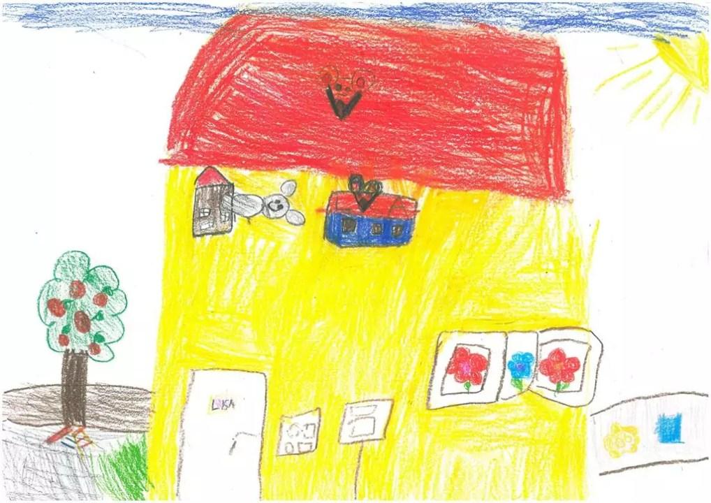 Der Kindergarten Mäuseburg gezeichnet von Lisa