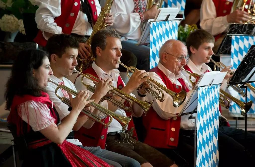 """Trompeter der Pullacher Blasmusik beim """"25 Jahre Pullacher Blasmusik""""-Konzert"""