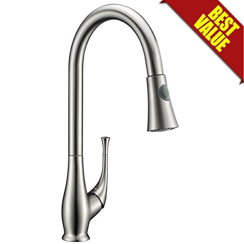 Avola Solid Brass Single Lever High Arc Pull Down Kitchen