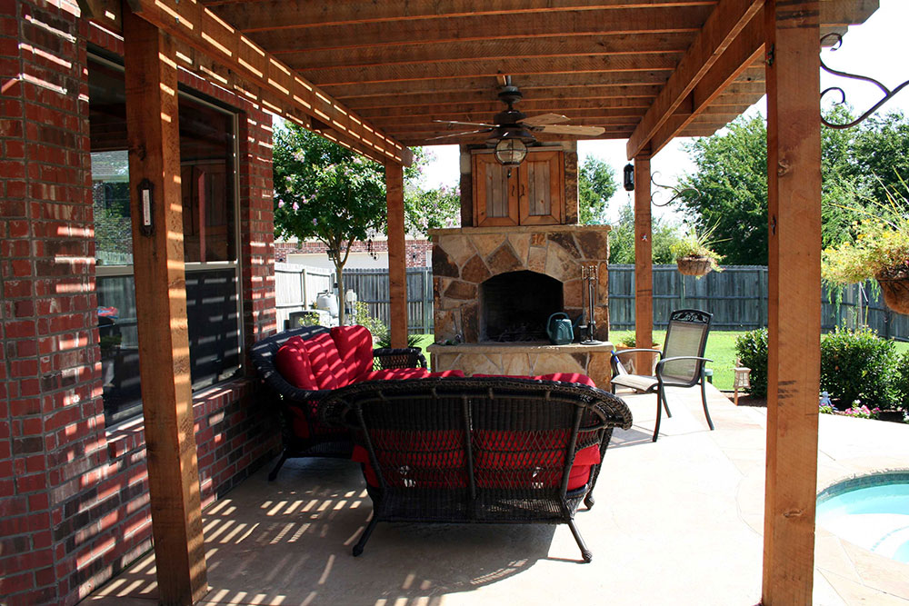 Ft. Worth Outdoor kitchen photos, Keller outdoor fireplaces, on Covered Outdoor Kitchen With Fireplace id=26358