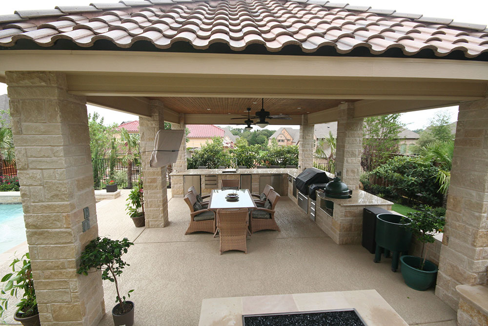 Ft. Worth Outdoor kitchen photos, Keller outdoor fireplaces, on Covered Outdoor Kitchen With Fireplace id=77747