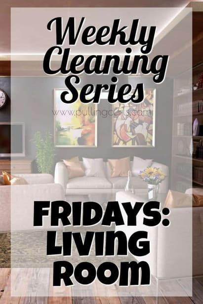 Fridays is all about the living room -- so we can party it up over the weekend. :)
