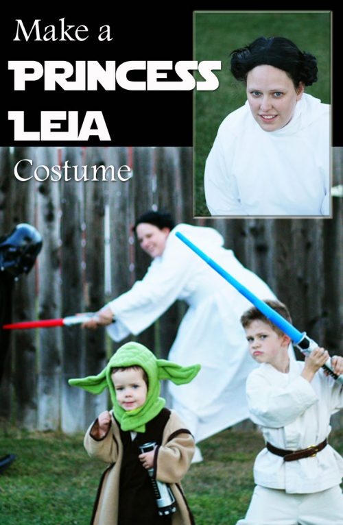 Making a Princess Leia costume can be a fun addition to your Halloween. Here's some tips how to do it {even if you don't want to sew -- and frankly, who DOES want to sew?}