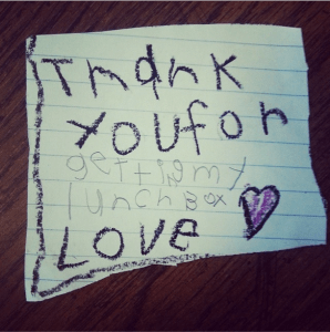 Gotta love a kid's thank you note.