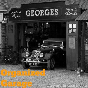 An organized garage helps keep the things you need, that you rarely use, at your fingertips!