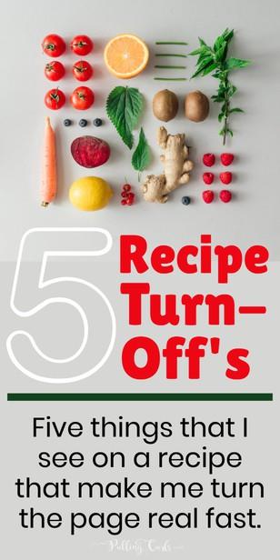 5 Recipe Turn-Off's via @pullingcurls