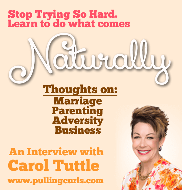 Carol Tuttle is a best selling author who has devoted her lives to helping people live as their true selves to be better partners, parents and friends. Come gain some insights as I have no holds barred interview.