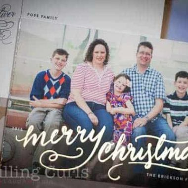 The classic refinement of a Minted Christmas card!