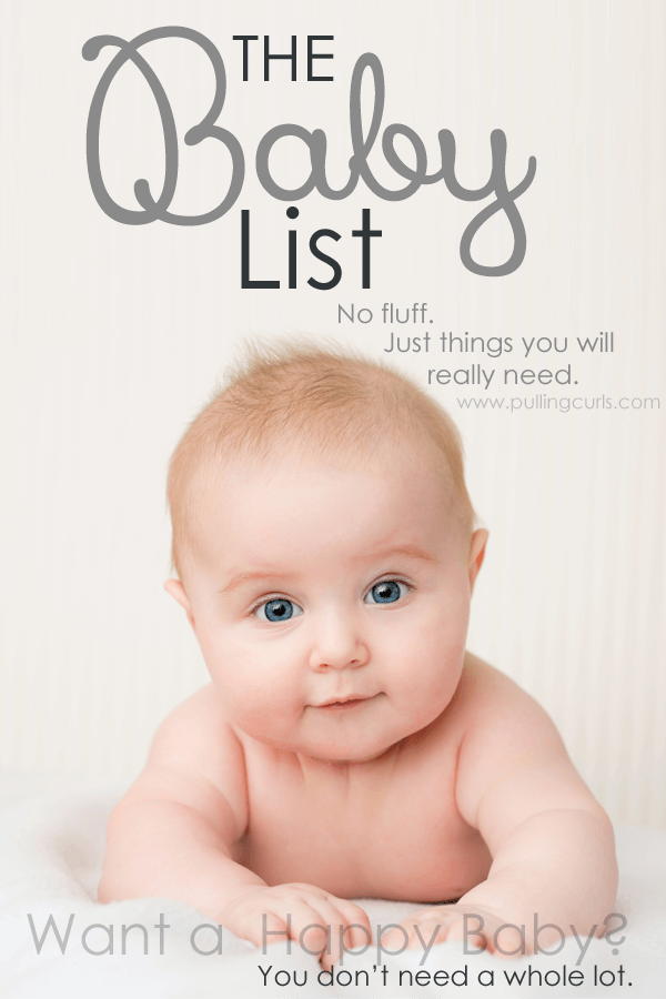 This baby list will help you save enough to be home with your baby for maternity leave but still get the essentials. No splurges here. Just black and white. Needs for the baby. via @pullingcurls