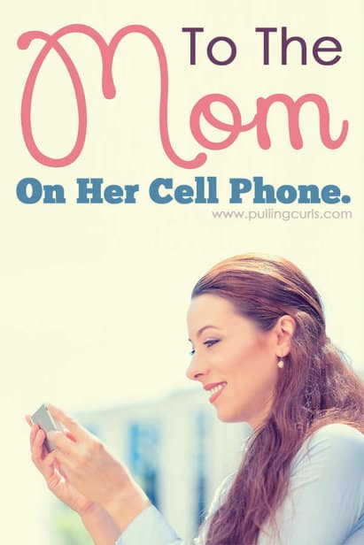 You mom on the cell phone. Ignoring her kids when each moment of the day should be filled with your attention and bliss for those kids. In reality I'm getting SO much done while my kids enjoy the sunshine. Back off other moms. Back off. via @pullingcurls