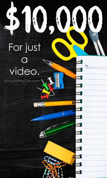 Just a quick video can earn you $10,000 to split with your school. That's it! via @pullingcurls