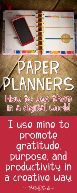 creatively using a paper planner