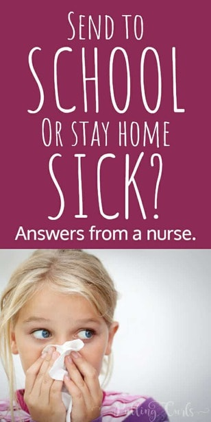 Should I keep my kid home from school sick or send them to school? Fever / vomiting / cough / earache / sore throat / headache via @pullingcurls
