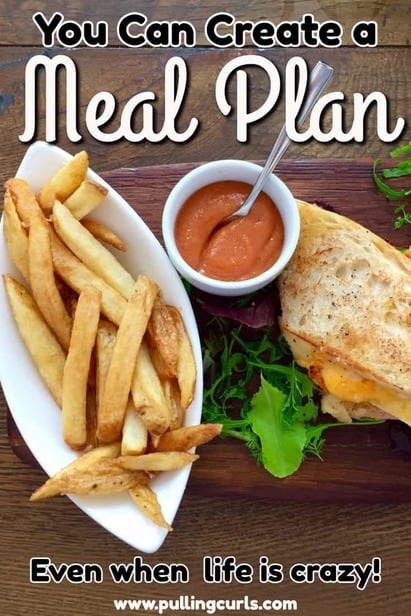 Life is crazy, but the truth is that 5 pm is even crazier. Make it all a little easier with a meal plan. This post will show you how to make one, or even give you options if you'd like someone else to give you some hints and ideas! via @pullingcurls