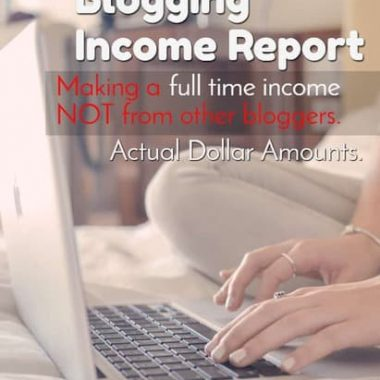 Check out this blogger that DOESN'T make her income off the back of other bloggers. She's making a full time income on her own target audience. You can do it too!