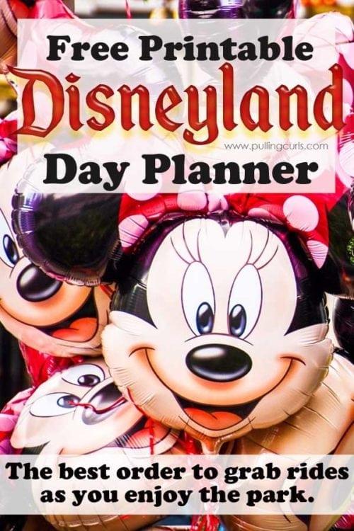 Disneyland printable   rides   planning   day   secrets   best   lines   wait