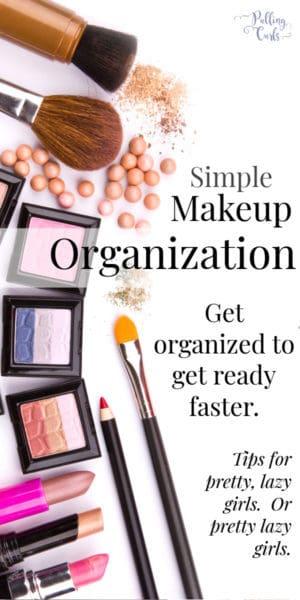 DIY Makeup Organization