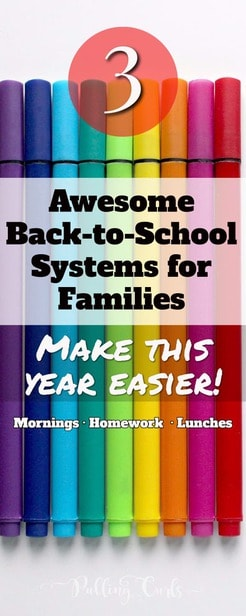 Back to school ideas to help organization in families. DIY your family life to make it smoother! via @pullingcurls