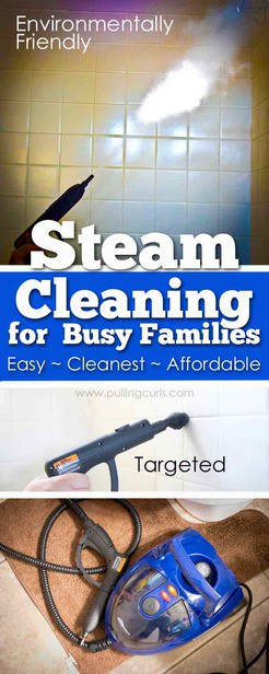 Steam Clean Machines are there to get things the MOST clean. Come find an awesome portable machine that will clean furniture, bathrooms and more! via @pullingcurls