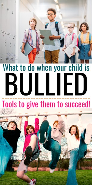 """Bullying is a target word anymore. Kids cry that they're being """"bullied"""" even when it's harmless teasing. How can you tell the difference and what do you do if your child is being bullied? via @pullingcurls"""