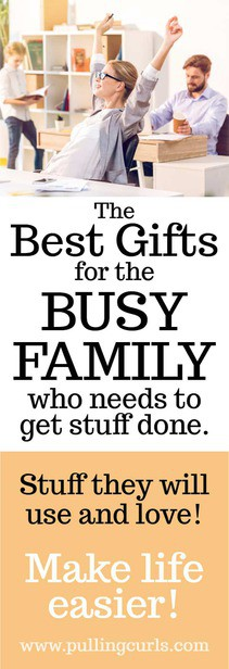 Best gifts for busy families include things for cleaning, organization, security, communication and more! via @pullingcurls