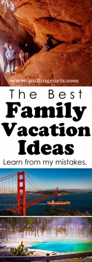 family vacation ideas / budget /toddlers / teenagers / near /spots in the US / summer