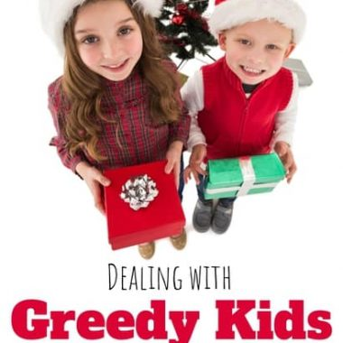 kids who want too much at Christmas