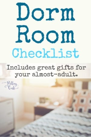 college dorm checklist for freshman