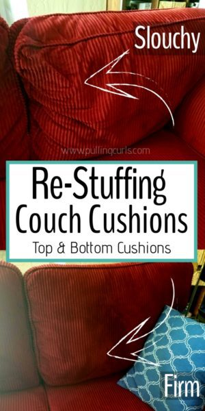 Re-foaming couch cushions