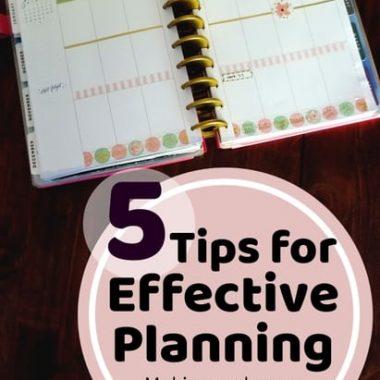 effective paper planning