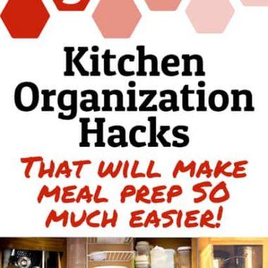Kitchen Organization Hacks:  Organized storage for small kitchens & cupboards!
