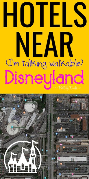 Hotels Nearby Disneyland: Many hotels say they are within walking distance to Disneyland, Caflironia -- but you have to remember that the park itself starts far beyond the property line and that walking will be a huge part of your day already. Let's talk about value hotels that are really close to Disneyland! via @pullingcurls